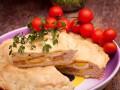 Пасхальный пирог с ветчиной и яйцом