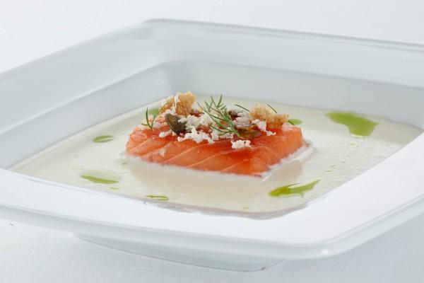 Рецепт                  Картофельный суп с копченой норвежской семгой