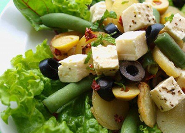 Рецепт                  Картофельный салат в греческом стиле