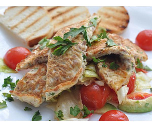 Рецепт                  Омлет с тунцом и сыром