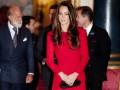 Кейт Миддлтон надела красное платье на встречу с британскими актерами