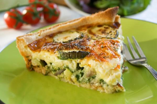 Рецепт                  Французский пирог с кабачками и сыром