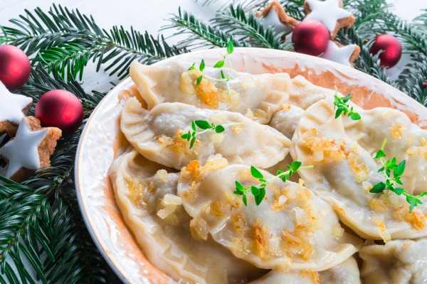 Рецепт                  Рождественский пост 2014-2015: Вареники с капустой и гречкой