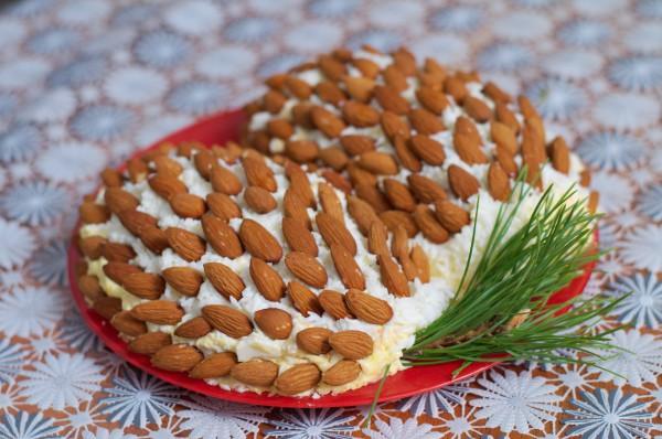 Рецепт                  Новогодние рецепты: Салат Сосновая шишка