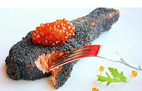 Рецепт                  Рыбные стейки в маковой панировке