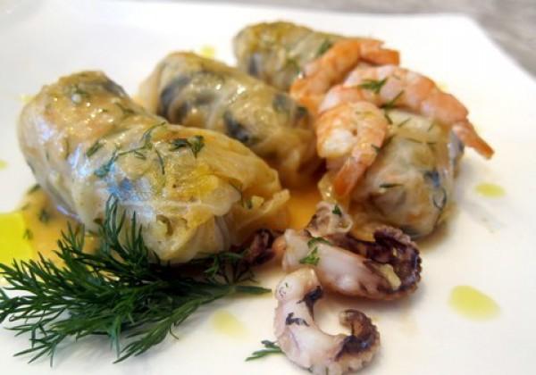 Рецепт                  Голубцы с морепродуктами