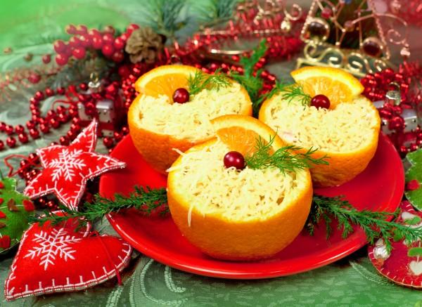 Рецепт                  Новогодние рецепты: Сырный салат с апельсинами