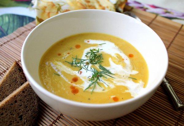 Рецепт                  Пикантный тыквенный суп