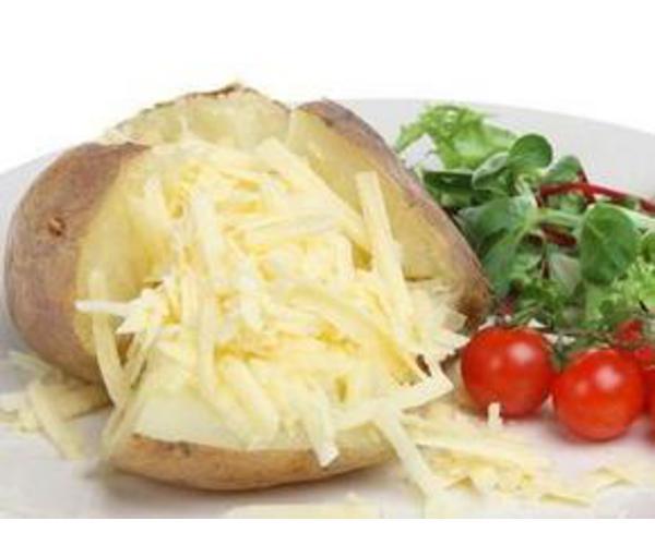 Рецепт                  Печеная картошка с сыром