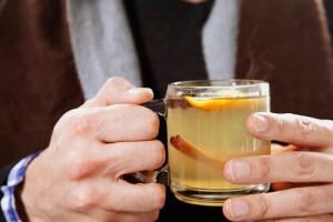 Согревающий чайный коктейль с имбирем.