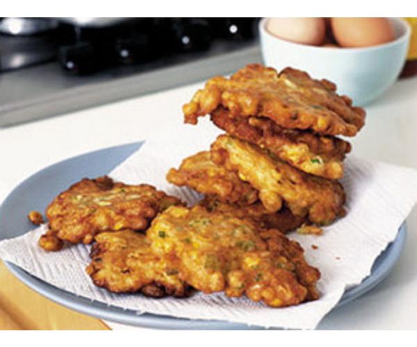 Рецепт                  Оладьи с кукурузой
