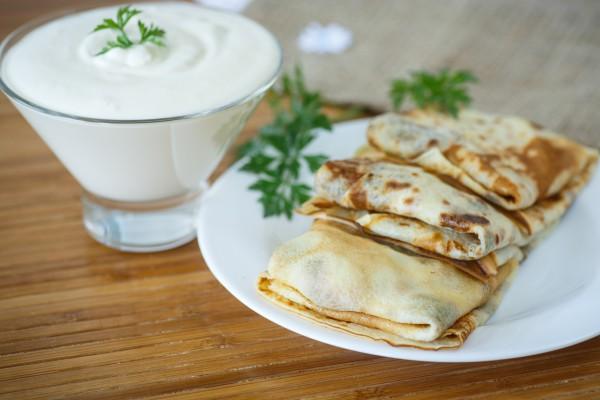 Рецепт                  Блинчики с картофелем и грибами