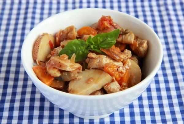 Рецепт                  Рагу из индейки и овощей