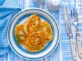 Картофельные зразы с мясом и рисом