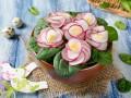 Как приготовить салат на 8 марта в виде фиалок