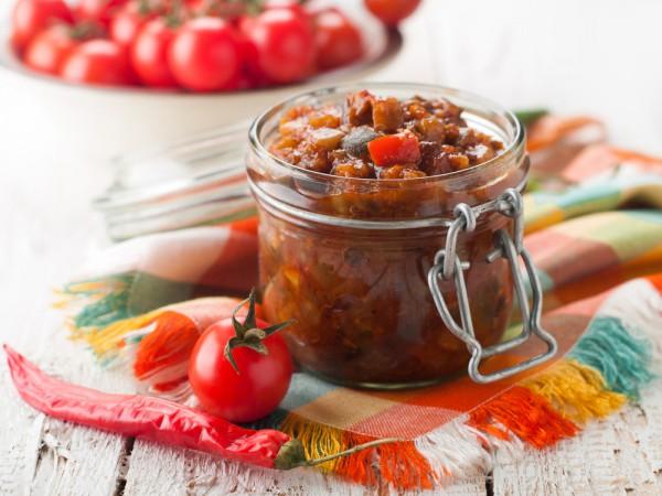 Рецепт                  Икра из баклажанов с болгарским перцем