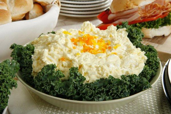 Рецепт                  Пасхальный рецепт: Яичный салат с горчичной заправкой