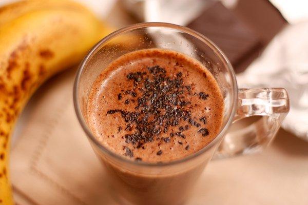 Рецепт                  Горячий банановый коктейль с шоколадом