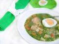 Рыбный суп с овощами и шпинатом