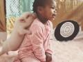 Ребенок и поросенок: История дружбы (фото)