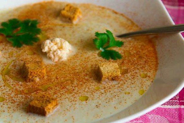 Рецепт                  Летний суп из цветной капусты