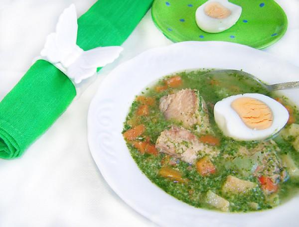 Рецепт                  Рыбный суп с овощами и шпинатом