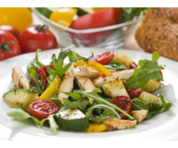 Рецепт                  Диетический салат с курицей