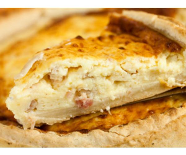 Рецепт                  Пирог с беконом и яйцом
