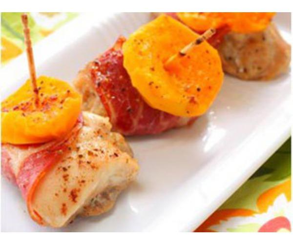 Рецепт                  Куриные рулетики с абрикосами