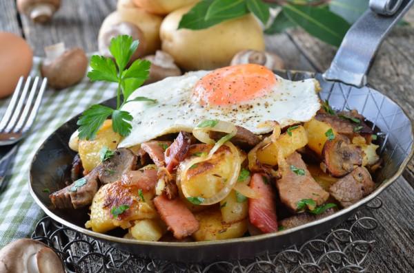 Рецепт                  Завтрак по-деревенски