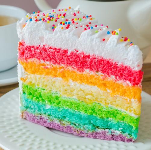 Рецепт                  Радужный торт