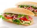 Сэндвичи с ветчиной, сыром и овощами