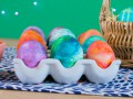 Как украсить яйца на Пасху с помощью пены для бритья