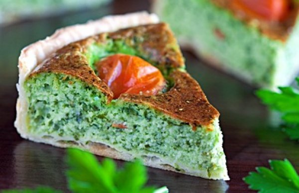 Рецепт                  Тарт с брынзой и зеленью