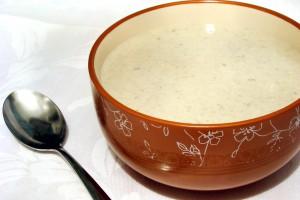 Суп из шампиньонов с голубым сыром