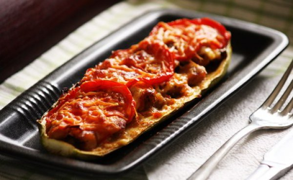 Рецепт                  Лодочки из кабачков