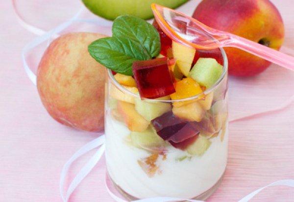 Рецепт                  Йогурт с фруктовым салатом