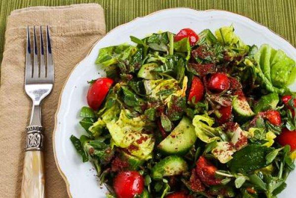Рецепт                  Летний салат с заправкой винегрет