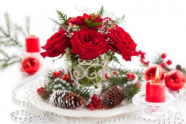 Украшение десертов в кафе на новый год