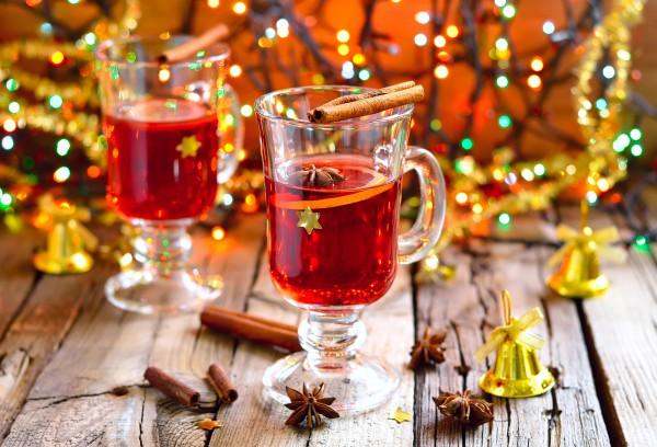 Рецепт                  Рождественский пунш с мандаринами и клюквой