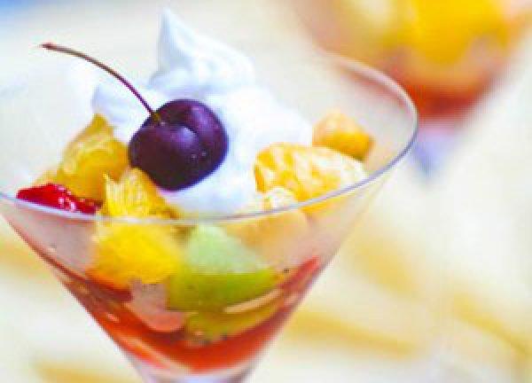 Рецепт                  Салат из экзотических фруктов