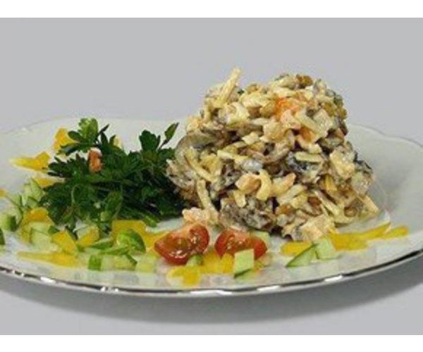 Рецепт                  Салат из курицы с грецкими орехами