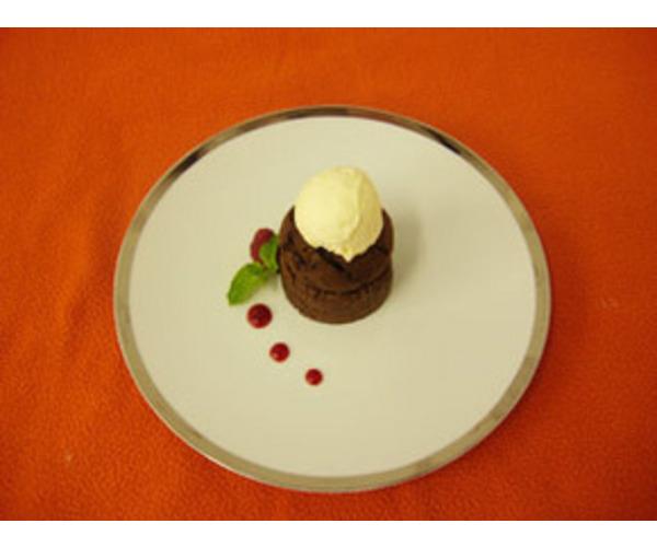 Рецепт                  Шоколадный флан с манго