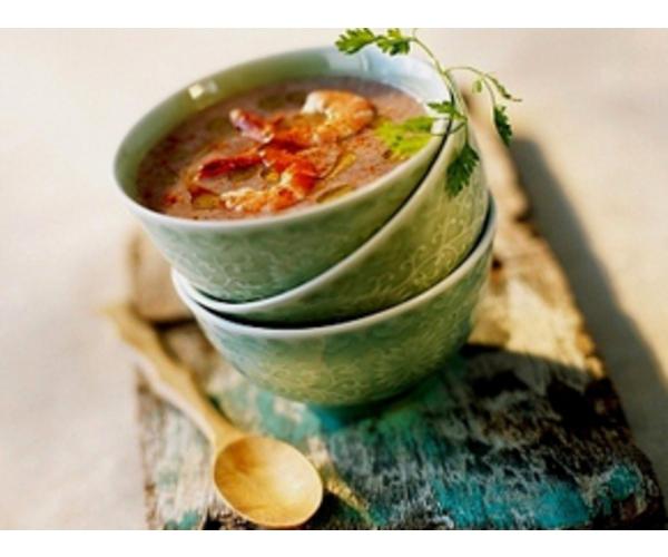Рецепт                  Суп из креветок