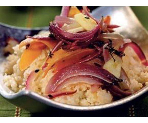 Рецепт                  Кускус с запеченными овощами
