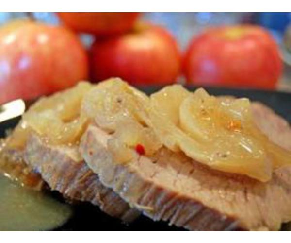 Рецепт                  Антрекот с яблоками