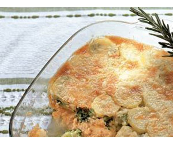 Рецепт                  Жареный картофель с лососем