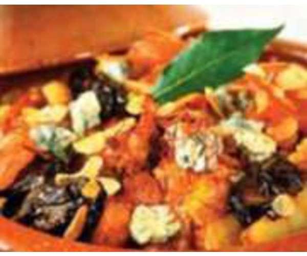 Рецепт                  Картофель тушеный с беконом, сыром и сливками