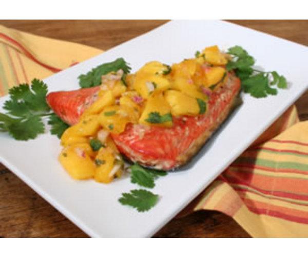 Рецепт                  Лосось с манго
