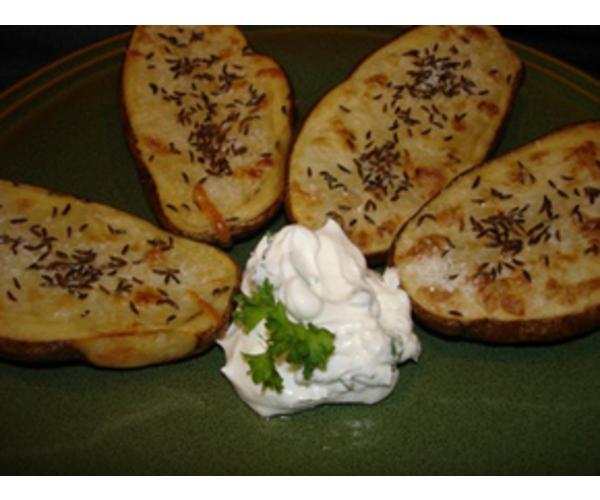 Рецепт                  Рейнский картофель с тмином